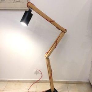 dębowa industrialna lampa ortez czarna