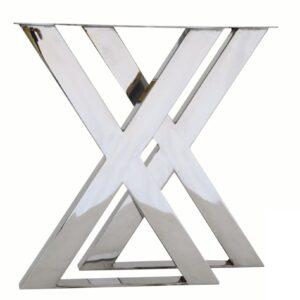 podstawa metalowa srebrna X