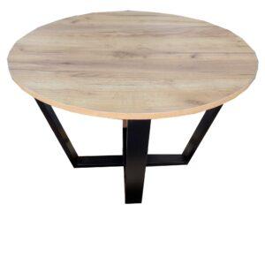 okrągły stolik kawowy oval