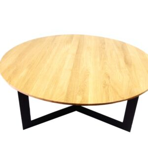 okrągły stolik kawowy onyx