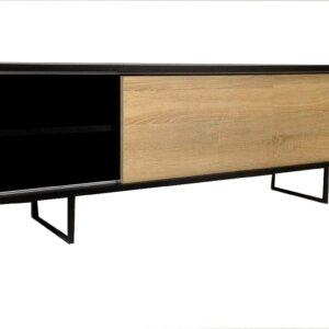 nowoczesna szafka RTV Laos, szafka dębowa, styl industrialny, styl nowoczesny