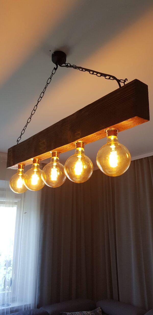 Lampa wisząca rustykalna lenny