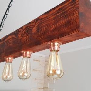 lampa wisząca rustykalna drewniana marco