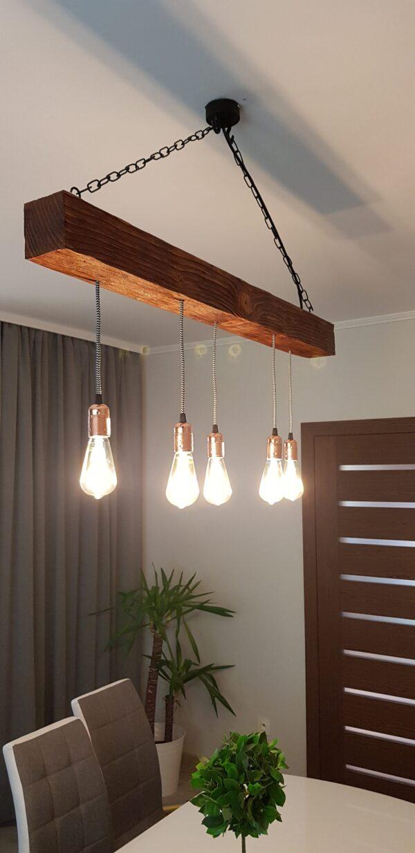 wisząca lampa rustykalna kelis