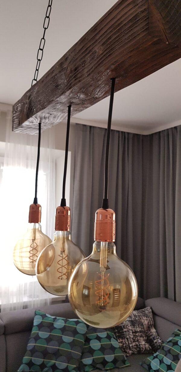 wiszaca lampa rustykalna travis