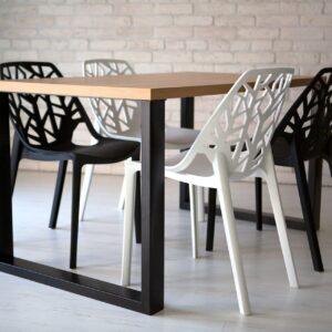 krzesło ażurowe nowoczesne białe