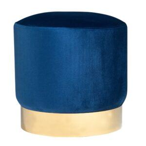 welurowa pufa szafirowy niebieski