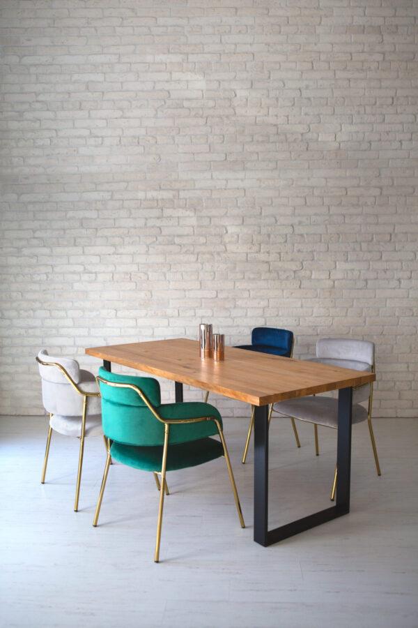 zielone krzesło welurowe tori