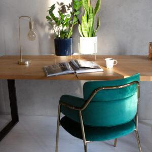 zielone krzesło welurowe lori
