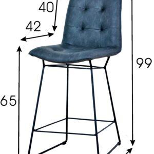 krzesło barowe hoker granatowy bari