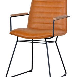 krzesło tapicerowane brązowe