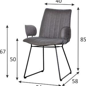 krzesło tapicerowane szare bari