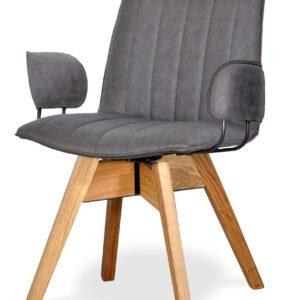 szare krzesło tapicerowane bari