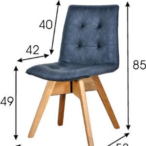 krzesło tapicerowane granatowe