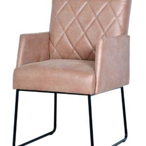 krzesło tapicerowane różowe baretta