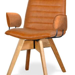 krzesło do jadalni brązowe bari