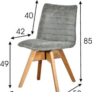 krzesło do jadalni szare