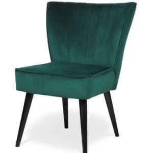 krzesło tapicerowane zielone horizonte