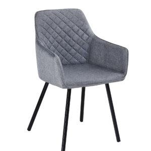 materiałowe krzesło szare