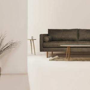 sofa ekoskóra zielona hampton