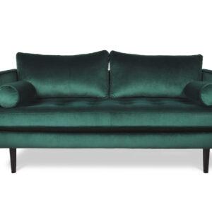 zielona sofa welurowa hampton