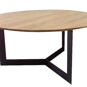 stolik kawowy okrągły dębowy