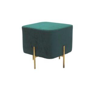 zielona pufa tapicerowana suro