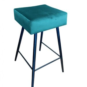 krzesło hokerowe turkusowe lana