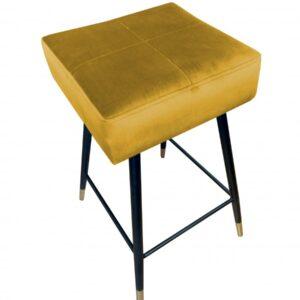 krzesło hokerowe żółte lana