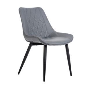 szare krzesło ekoskóra