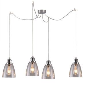 lampa wisząca srebrna