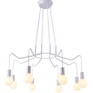lampa biała z żarówkami