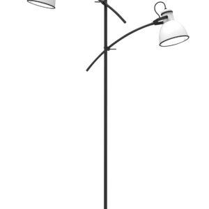 lampa podłogowa biało-czarna