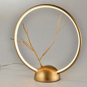 lampa stojąca złota coral