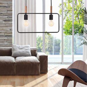 lampa wisząca czarna frame