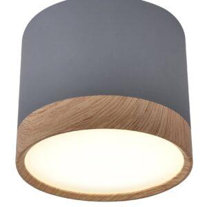 lampa sufitowa szara tony