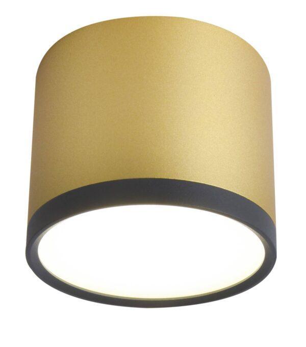 lampa natynkowa sufitowa złota