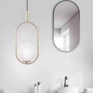 lampa wisząca do salonu złota
