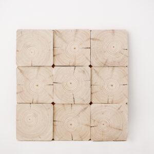 panel ścienny 3d drewniany