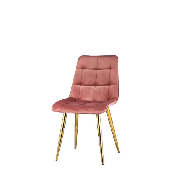 krzesło do jadalni różowe