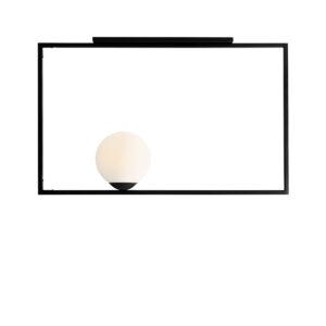 LAMPA SUFITOWA 1 PŁ FRAME BLACK POZIOMA