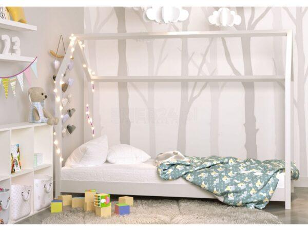 Łóżko domek dziecięce białe Bella