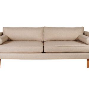 sofa tapicerowana beżowa Hampton