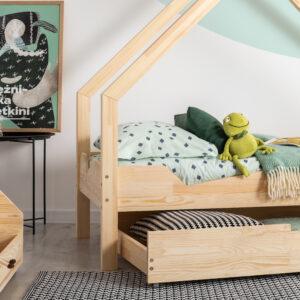 Łóżko dziecięce domek Loca A z szufladą