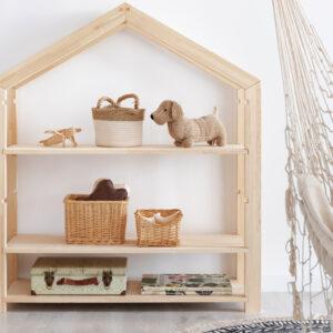 Regał domek drewniany dziecięcy Kraft