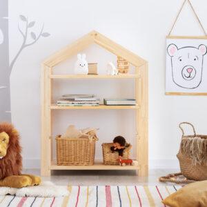 Regał domek drewniany dziecięcy Kindi
