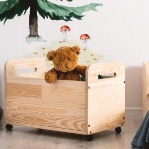 Skrzynia na zabawki dziecięca drewniana Toy IV