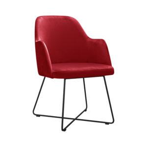 czerwony fotel tapicerowany