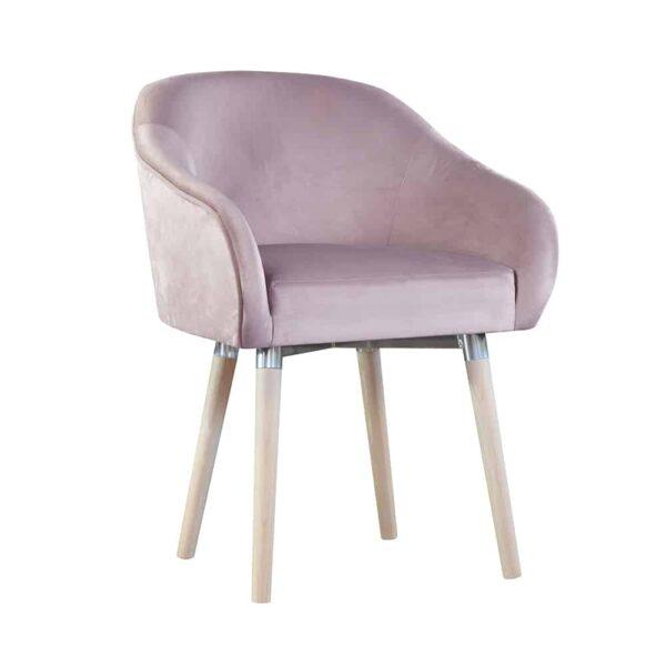 fotel tapicerowany różowy