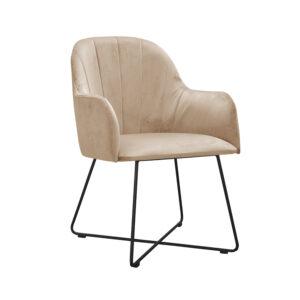 fotel tapicerowany beżowy
